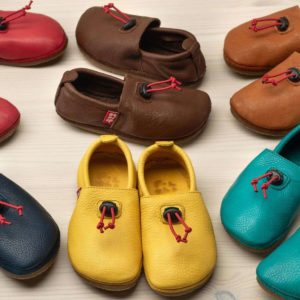 POLOLO MINI Kinderschuh Juan mit Lederfutter in Pepperrot