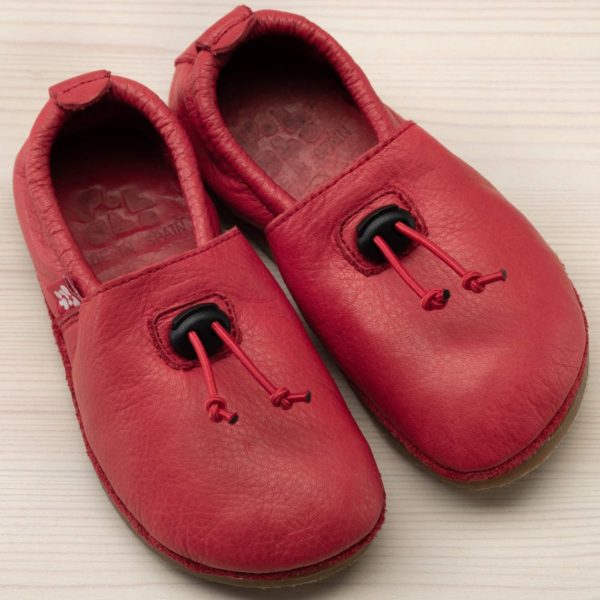 pololo-nos-barfuss-strassenschuh-cordel-tpr-sohle-kordelstopper-rot-frontal